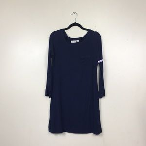 Nordstrom Lingerie Navy Long Sleeve Sleep Shirt